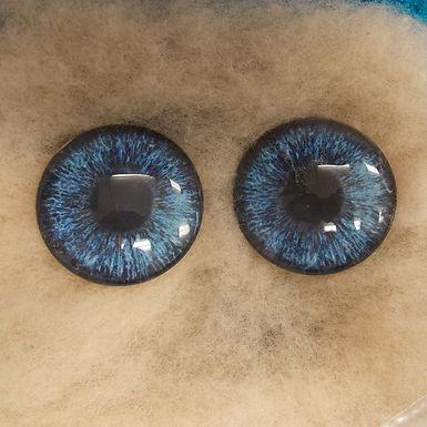 Glass Eyes, Large, Flat Back, LT Blue, 1 pair, choose size