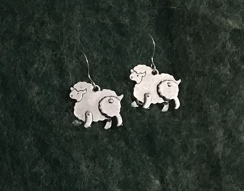 """Fluffy"" Lamb Earrings"