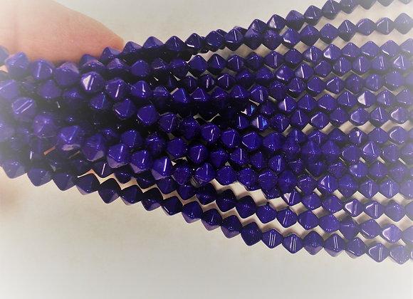 Czech Glass Beads, CZ62, Op Blue, 1 strand