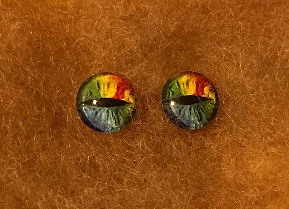 Glass Flatback Critter Eyes, CR11, Phantasy Eyes, 1 pair