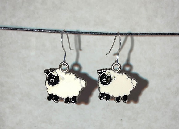 Little Fluffy Sheep Earrings