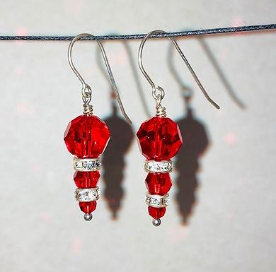Swarovski Crystal and Sterling Silver Earrings