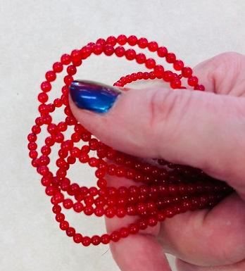 Beads, Translucent Quartz, one strand