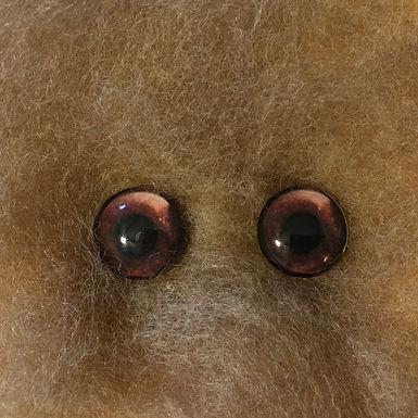 Glass Flatback Critter Eyes, CA6, 1 pair