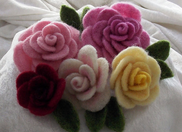 Floribunda! Needle Felted Roses Kit