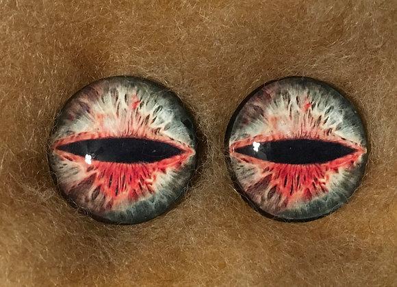 Glass Flatback Critter Eyes, CR10, 1 pair