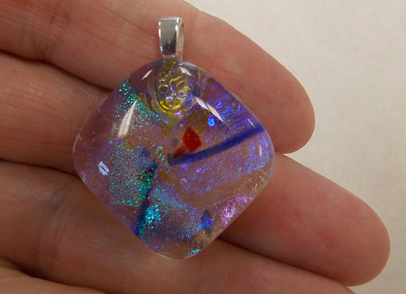 Dichroic Glass Pendant with Bail