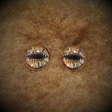 Glass Flatback Critter Eyes, CR8, 1 pair