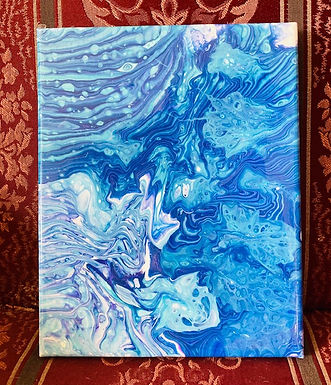 """Abstract Art Painting, """"Liquid Layers"""""""