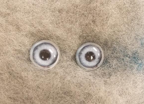 Glass Flatback Canine Eyes, CA2, blue, 1 pair