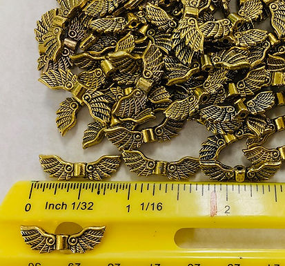 Wings, Antiqued Gold, 10 pack