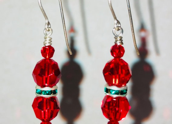 Swarovski Crystal and Sterling Silver Earrings