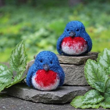 2 Bluebirds Needle Felting Kit