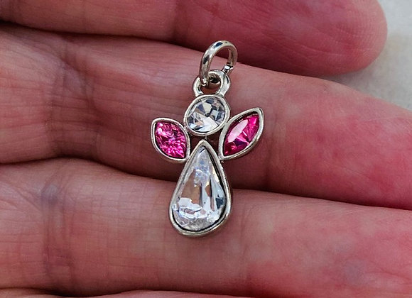 Sweet Crystal Angel Pendant/Charm