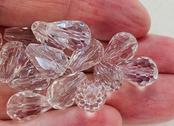 Angel Bodies, Swarovski Crystal Teardrop, 2 pack