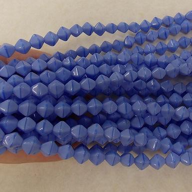 Czech Glass Beads, CZ79, OP Blue, 1 strand