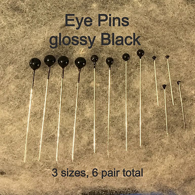 Eye Pins, 3 sizes, pack of 6 pair