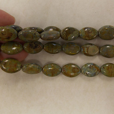 Czech Glass Beads, CZ68, OP Earthy Tones, 1 strand