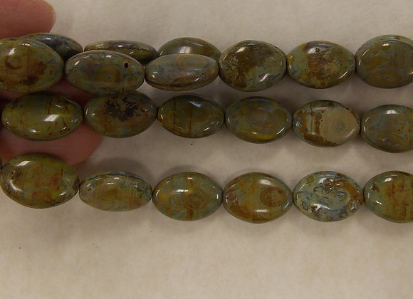 Czech Glass Beads, CZ68, OP Earthy Tones, 1 strand