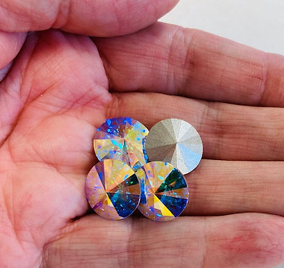 Chatons, Swarovski Crystal AB, 4 pack