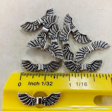 Wings, Antiqued Silver, 10 pack