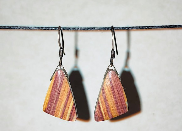 Matched Pair Genuine Agate Earrings (A)