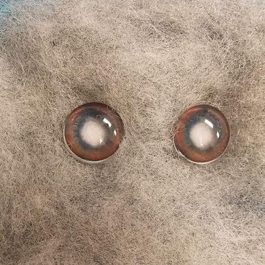 Glass Eyes, CA5, Flat Back, Older Dog, 1 pair, choose size