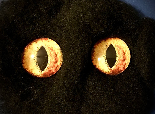 Glass Flatback Cat Eyes, FE1, 1 pair