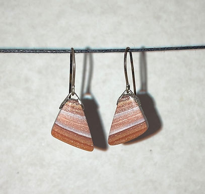 Matched Pair Genuine Agate Earrings (E)