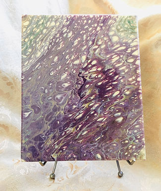 Fluid Art Painting, Autumn Palette