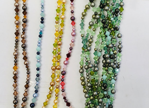 Swarovski Crystals and Pearls, one strand