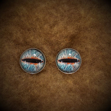 Glass Flatback Critter Eyes, CR7, 1 pair