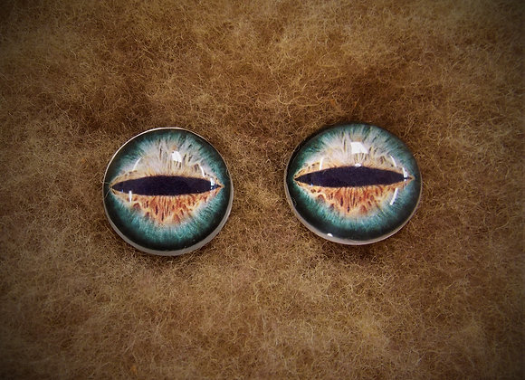 Glass Flatback Critter Eyes, CR1, 1 pair