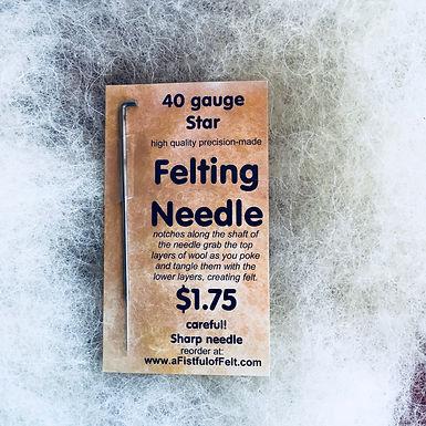 Felting Needle, 40 gauge Star