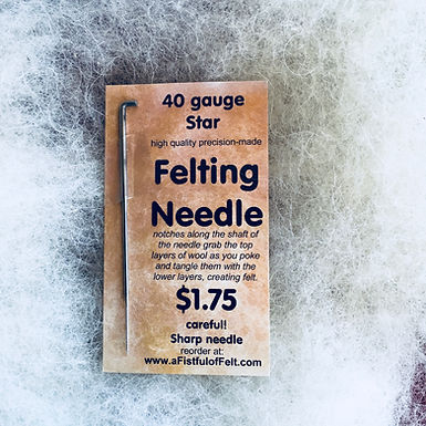 Felting Needle, 40 gauge Star