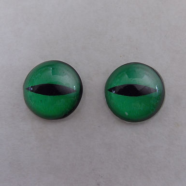 20mm Glass Flat-Backed Eyes, one pair, #20-1