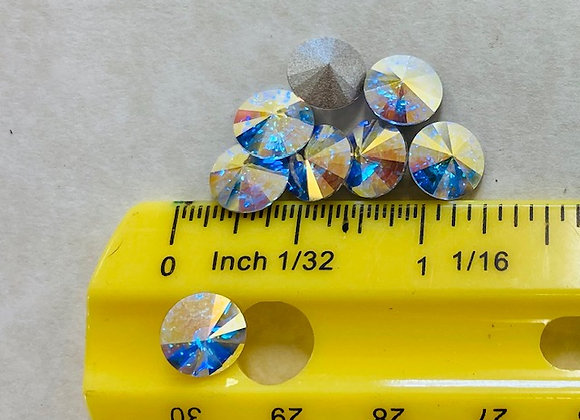 Chatons, Vintage Swarovski Crystals, 8 pack, crystal AB