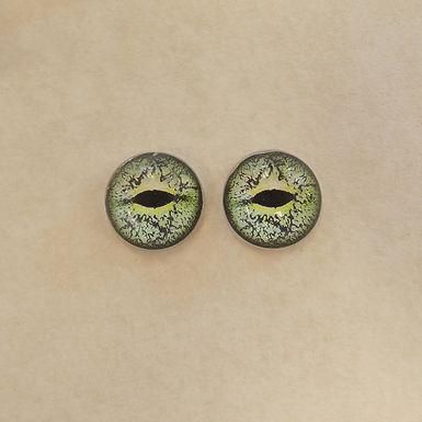 Glass Flatback Realistic Critter Eyes, AM6, 1 pair