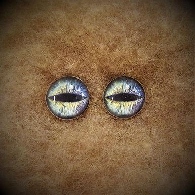 Glass Flatback Critter Eyes, CR3, 1 pair