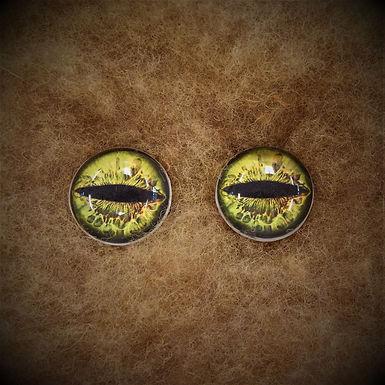 Glass Flatback Critter Eyes, CR6, 1 pair