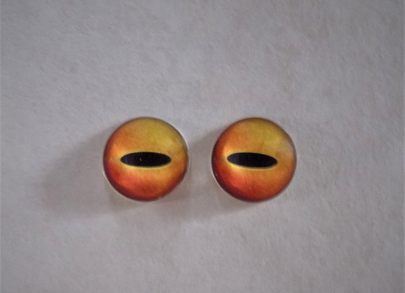 Glass Eyes, Flat-Backed, AM1, 1 pair