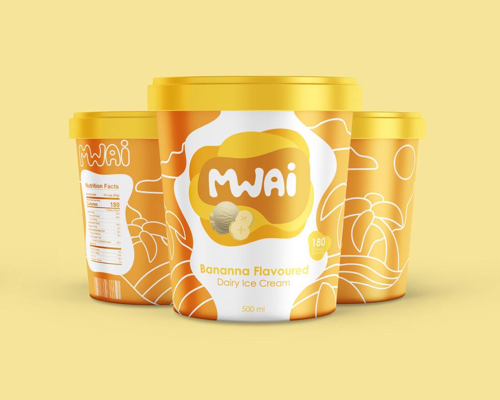 Mwai Ice Cream Packaging Design