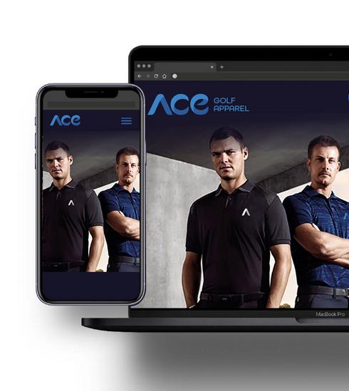 Ace Golf Apparel Website
