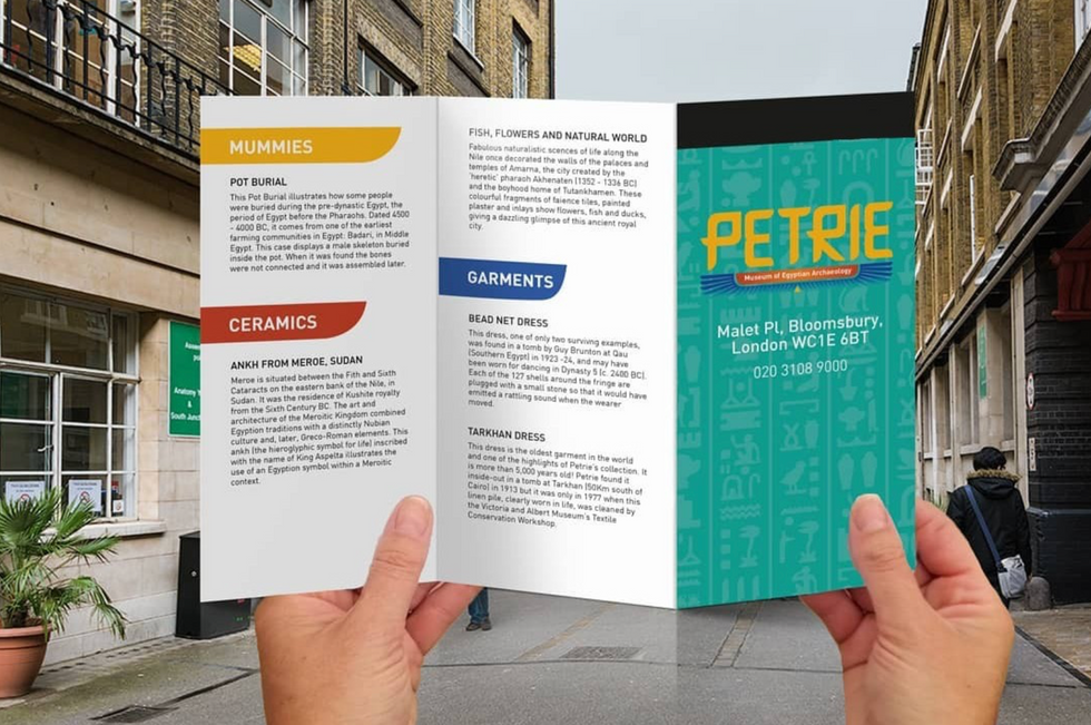 Petrie Museum of Egyption Archeaology Rebrand