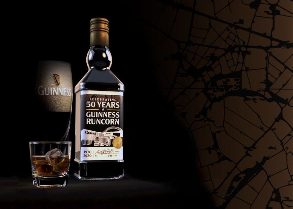 Diageo Runcorn Guinness Packaging Site Limited Edition Whisky Packaging Design to Celebrate 50 years