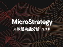 MSTR BI 軟體功能分析 Part Ⅱ