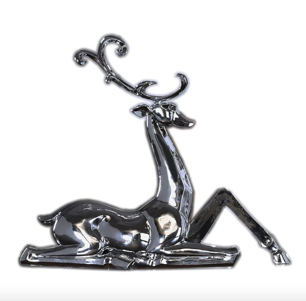 Metallic Sitting Deer