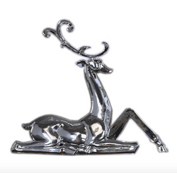 Metallic Sitting Deer