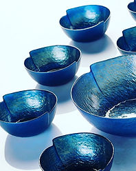 blue glass bowl casa vanti