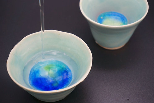 Handmade Ceramic Ochoco Sake Pair Cup